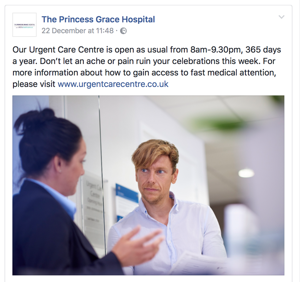 Princess Grace Hospital, 2016/17