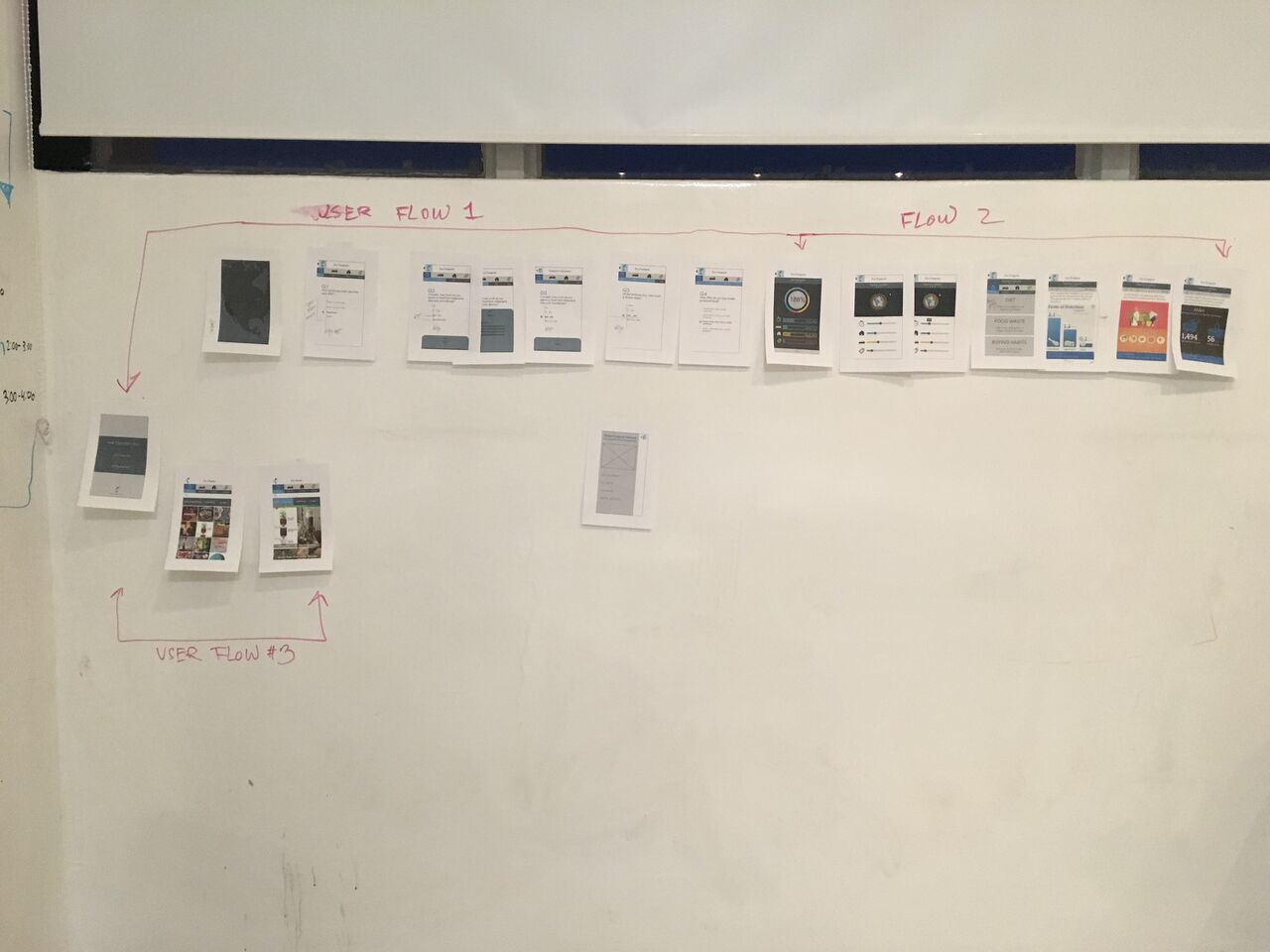 3nd Iteration, User Flow Paper Prototype