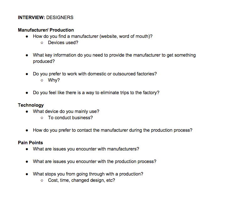 Phase 1 of Designer's Interview Questions