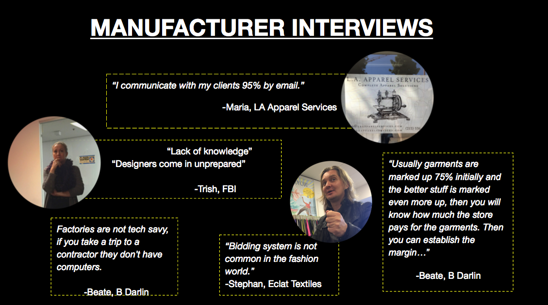 Quotes from Manufacturer Interviews