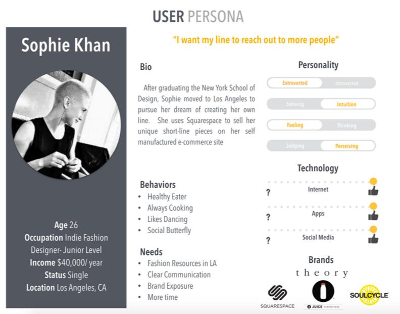 User Persona - The Designer