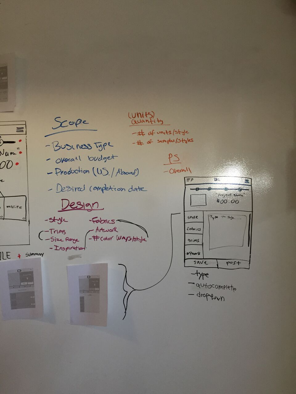 Quote Project Form Information Architecture