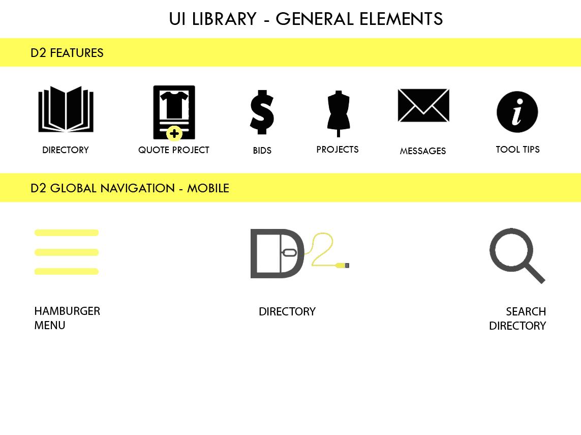 UI Elements for User Navigation