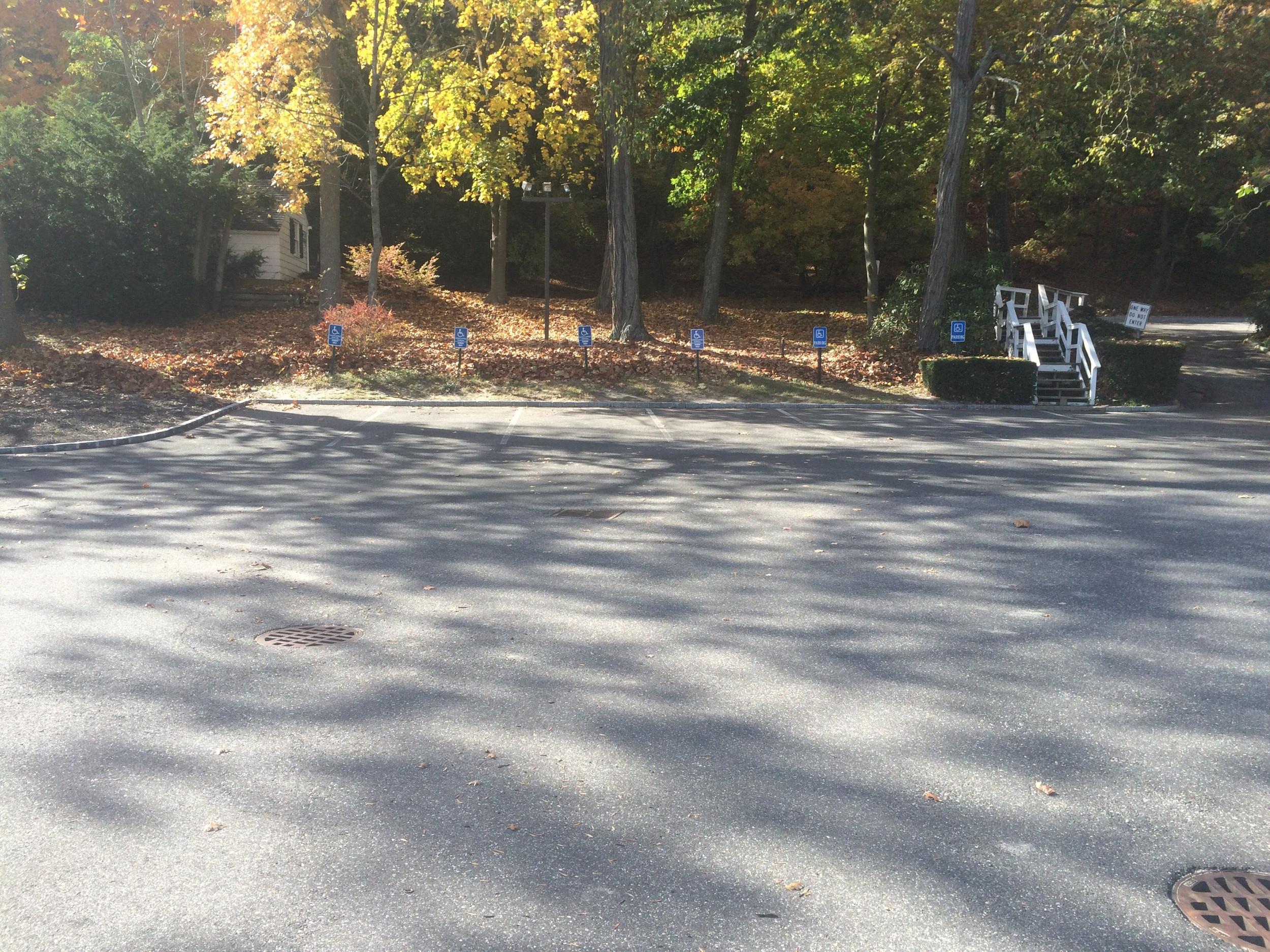 church parking lot