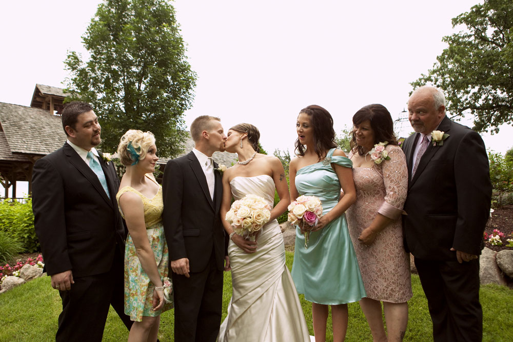 Beautiful summer wedding at Panola Valley Garden in Lindstrom, MN.