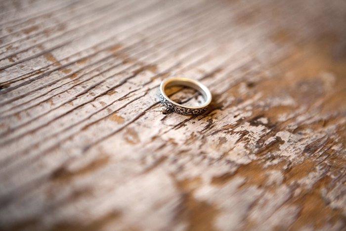 """Wedding band custom created by Chuck Domitrovich with """"Down to the Wire Designs"""" based in Seattle, Washington."""
