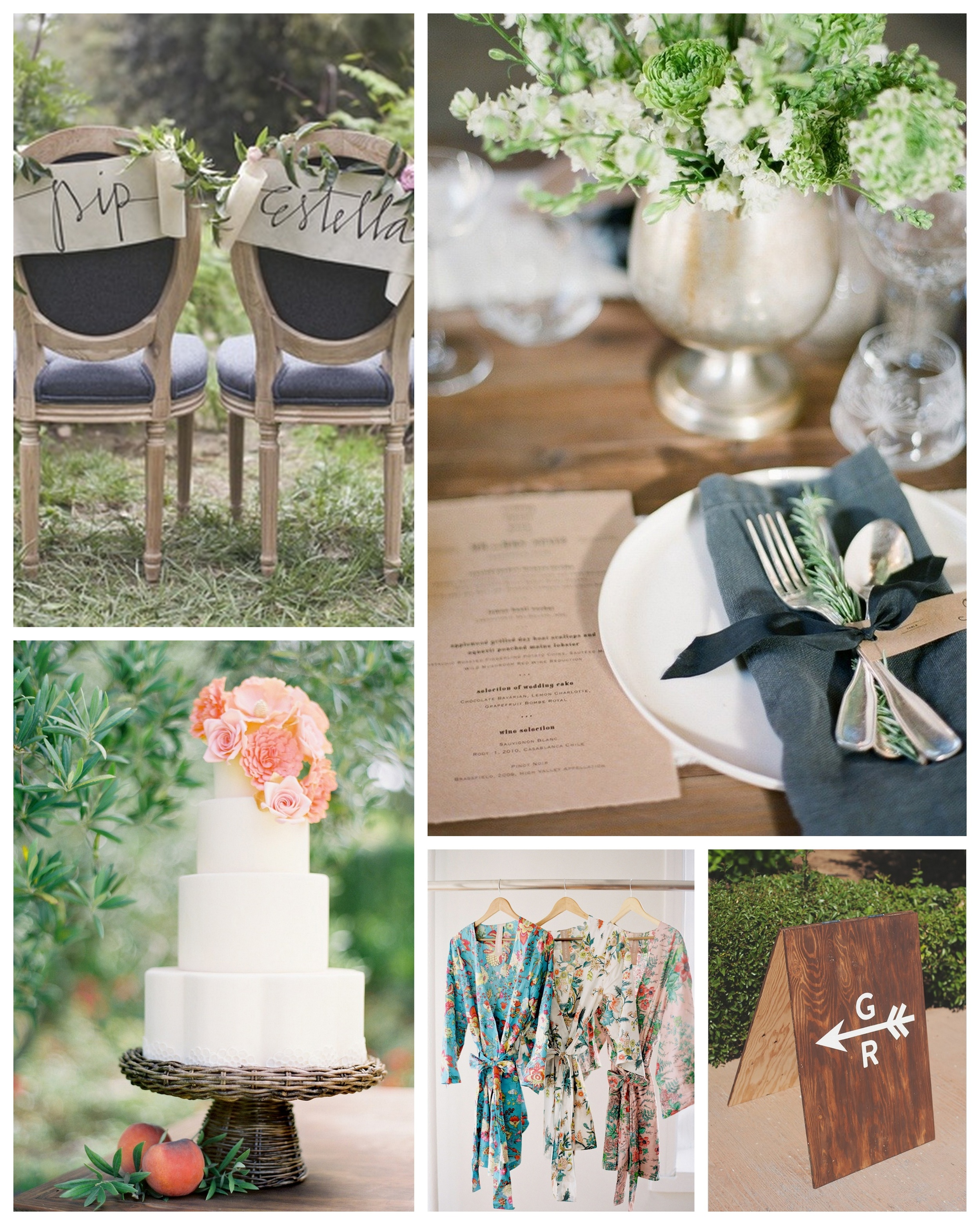 All images sourced through Nicole & Tyler's  Pinterest Board