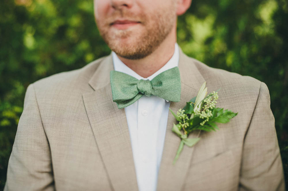 green bowtie for groom