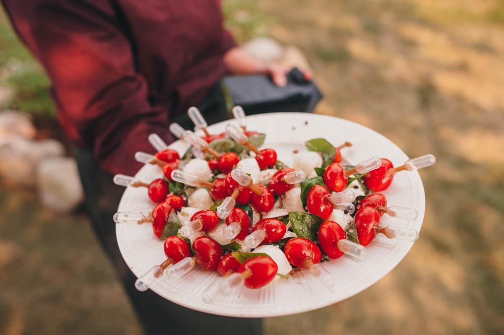 caprese skewers wedding appetizer