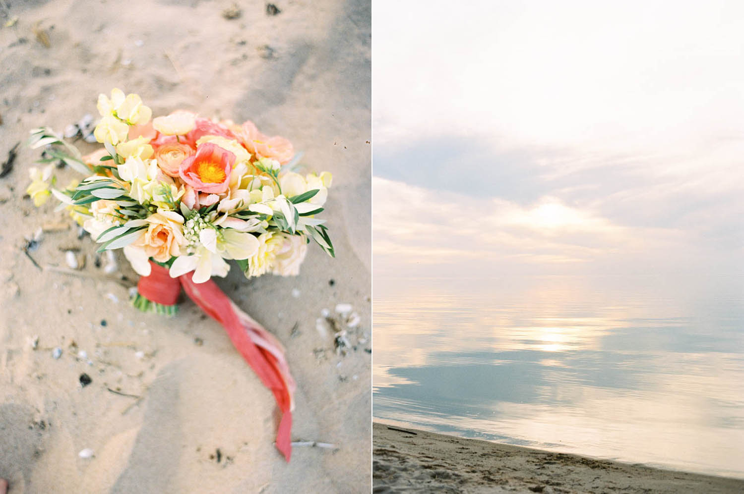 lakeside wedding in northern michigan