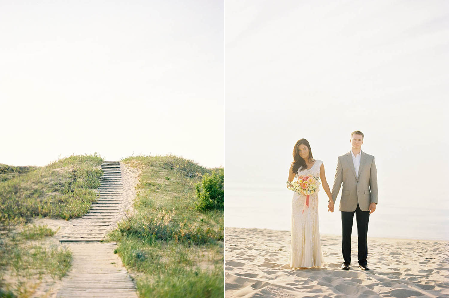 married at the beach in michigan