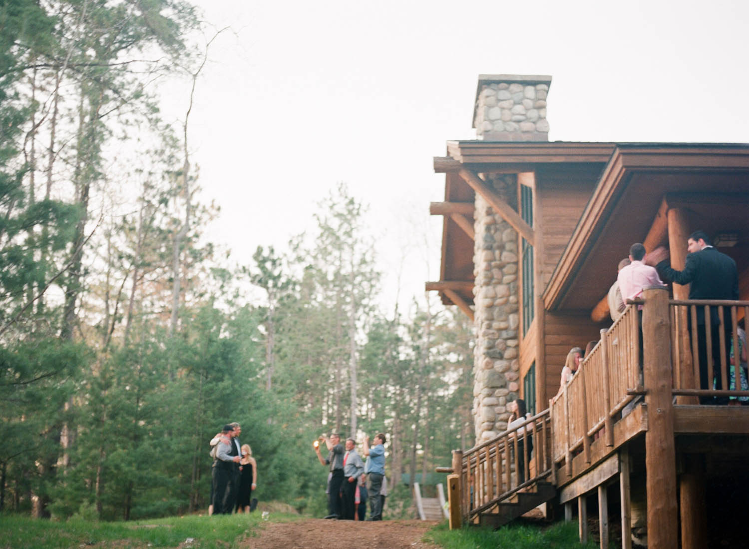 rustic chic taupe lakeside lodge wedding
