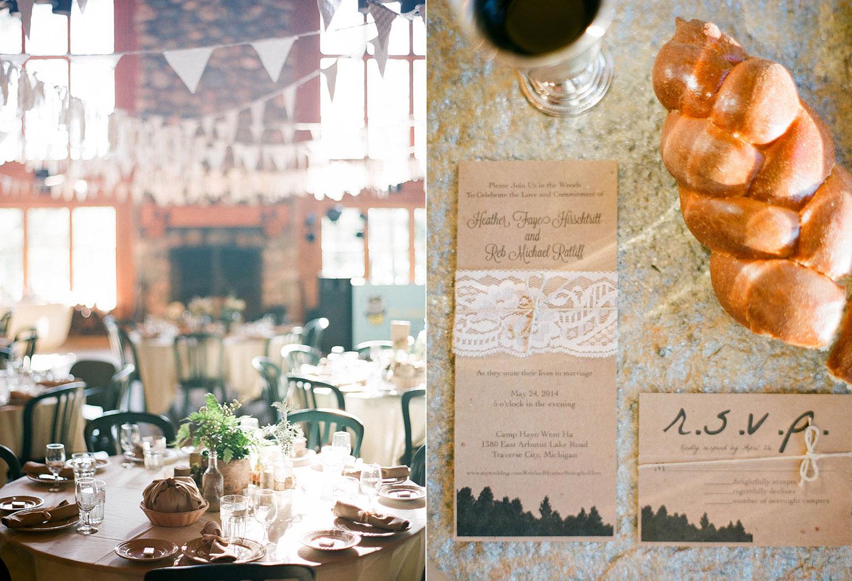 rustic chic wedding banners challah bread