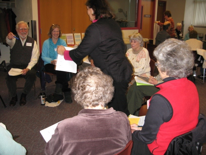 2010 workshop participants in a civil dialogue activity