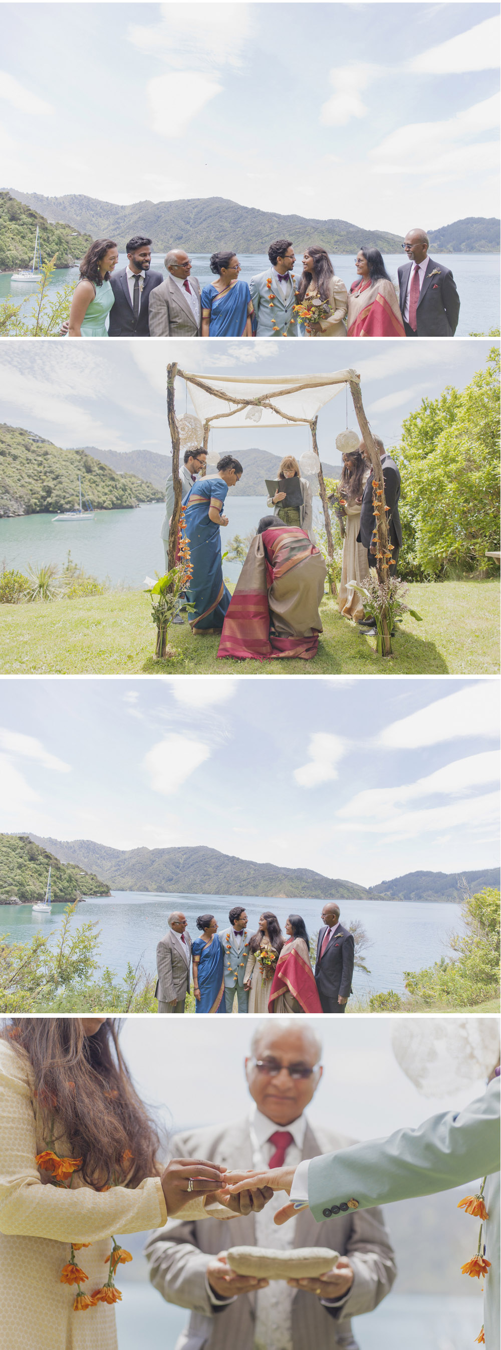 Wedding photography in the Marlborough Sounds.