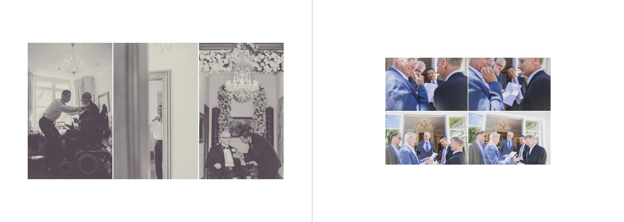 Wedding album layout design by Jenny Siaosi, Wellington wedding photographer.