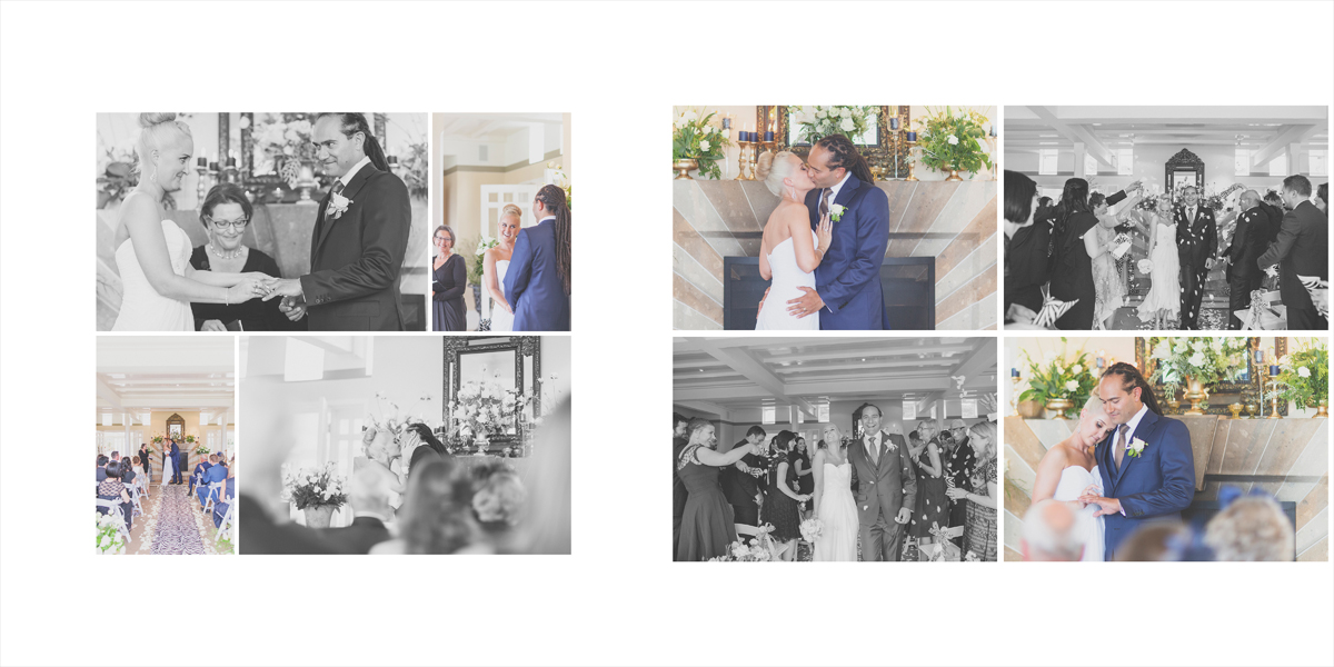 Moving moments at the wedding ceremony.