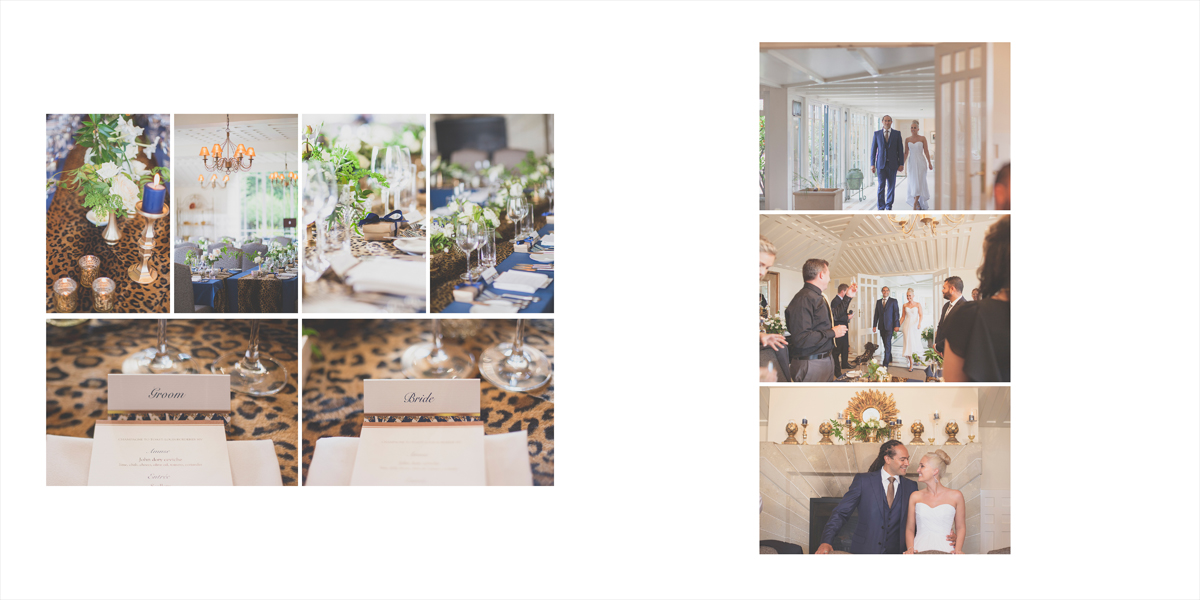 Details of the reception, and the Bride and Groom being announced.