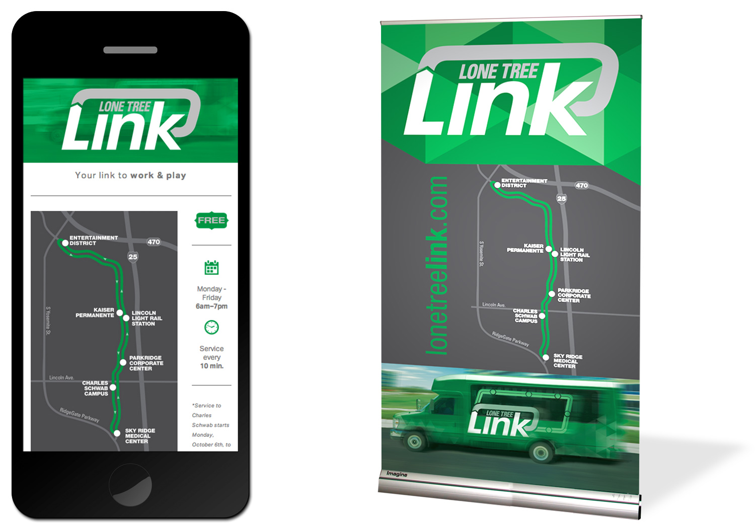 Mobile Interface and Traveling Banner
