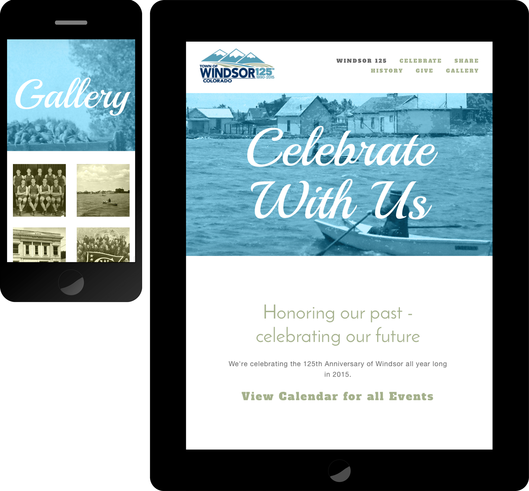 Town of windsor 125th anniversary celebration mobile-friendly website