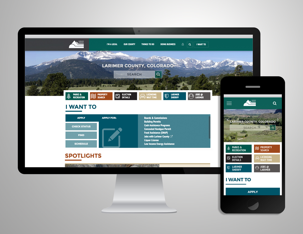 Larimer County Website Redesign