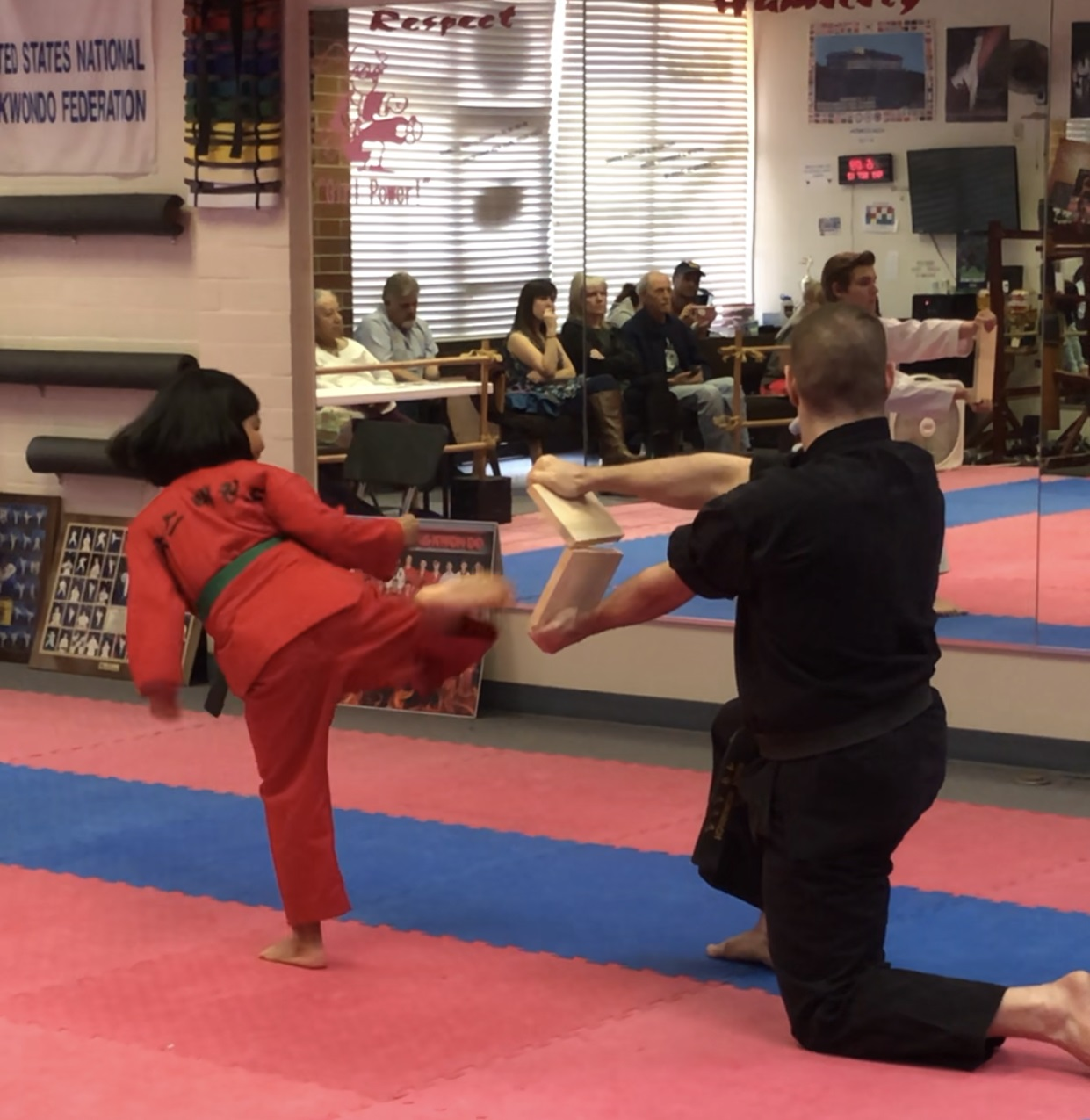 Testing for Advanced Belt in the Youth Intermediate class