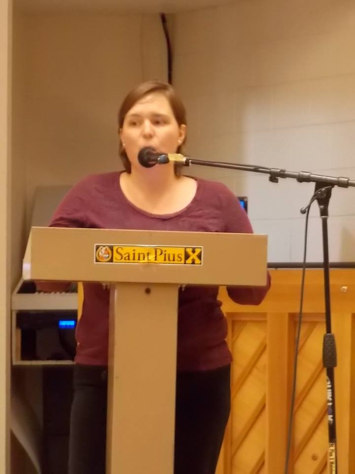 Tara Shaver, spokeswoman for Project Defending Life, during Public Awareness Campaign in Albuquerque, describes the Pain Capable Abortion Ordinance