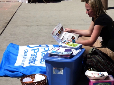 Planned Parenthood representative at Boise State University asked forone of HLA's pamphlets to read!