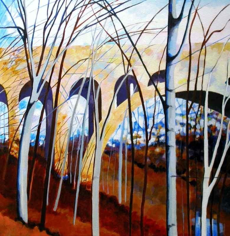 Birches and Bridge