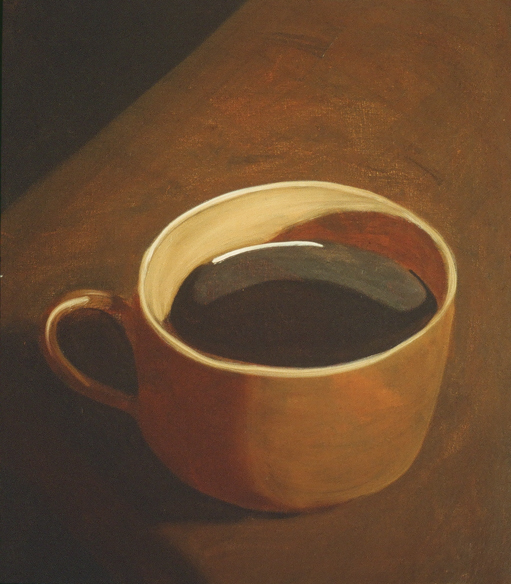 Coffee. 1990 61X81 cm Oil on canvas.