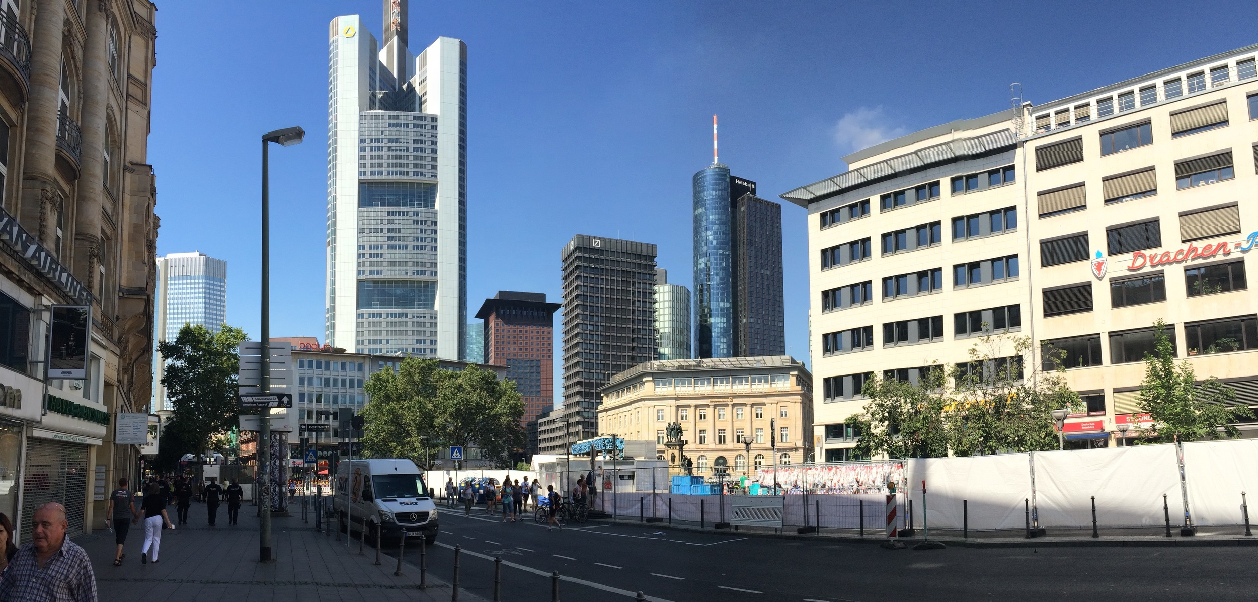 Downtown Frankfurt.