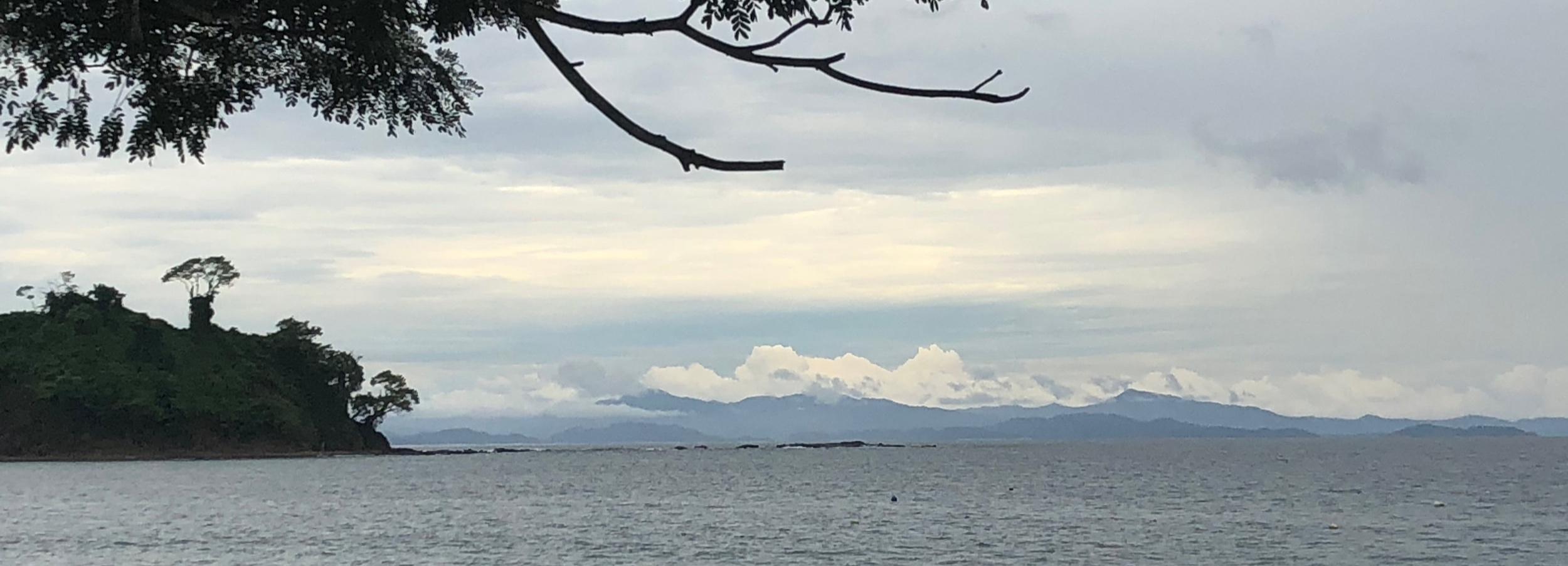 View from Playa Mantas, near Garabito, Puntarenas Province, Costa Rica. 14 August 2019.