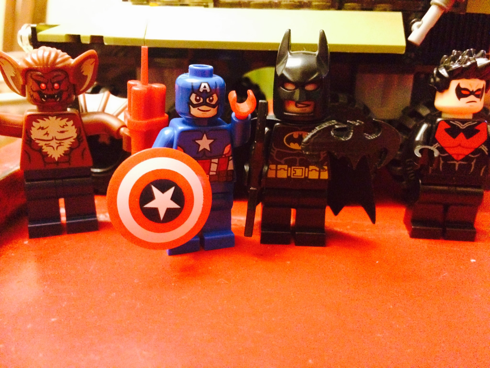 Batman vs. Captain America Which item was 3D Printed?