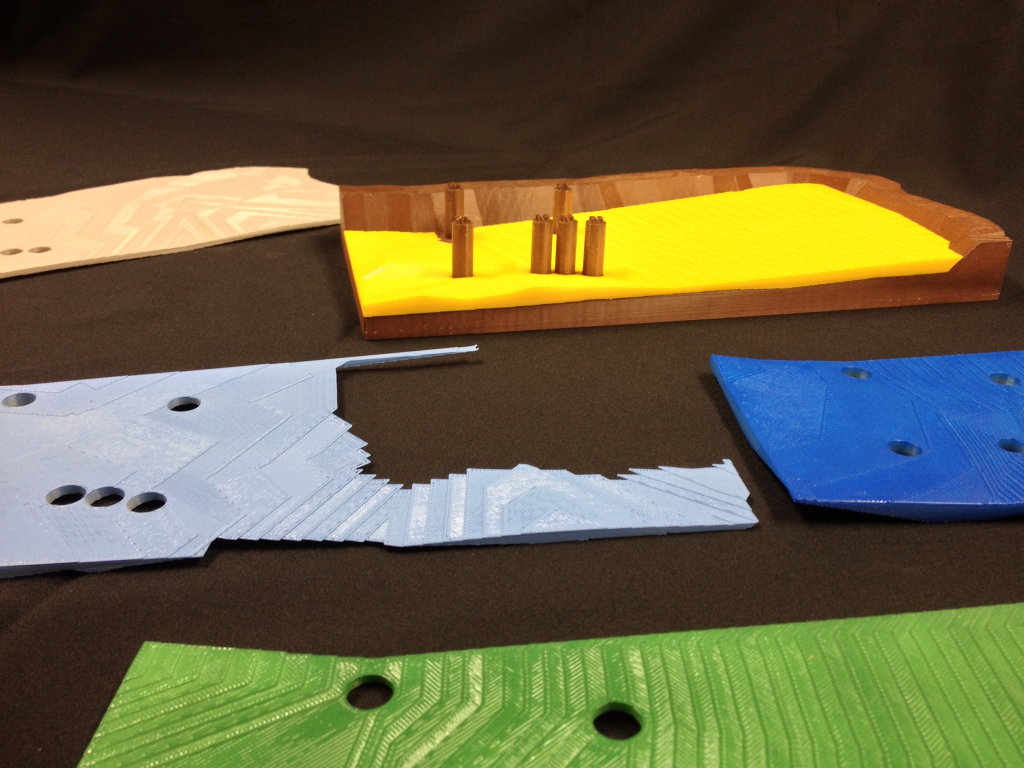 3D Printed Iron Pit - Sectioned