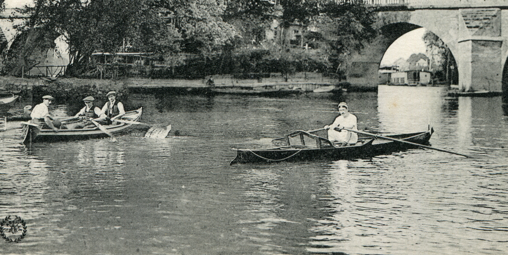Historic Picture of a River Boat