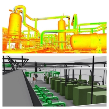 3d Laser Scan and Point Cloud of Sewage Plant