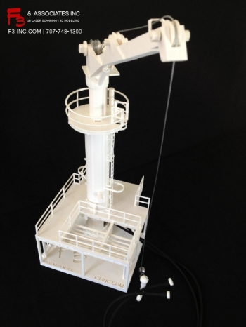 3d Printed Model of Large Crane for Refinery