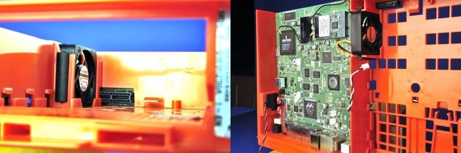 Ventilateur Sunon a cheval sur un connecteur type PCI-Express
