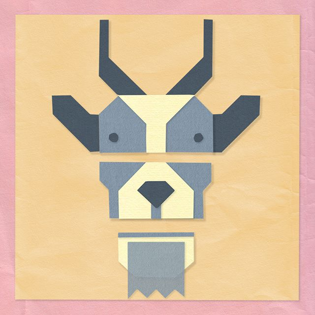 Goat alone #papercut #goat #chutneychorus #animalillustration