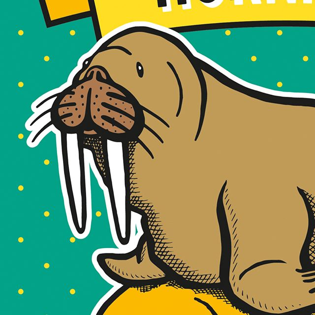 Cake, carrot or cheese? Our identity for Horniman Farmers' Market  gives you a few options. #hornimanmuseumandgardens #hornimanfarmersmarket #brandidentity #walrus #hornimanwalrus