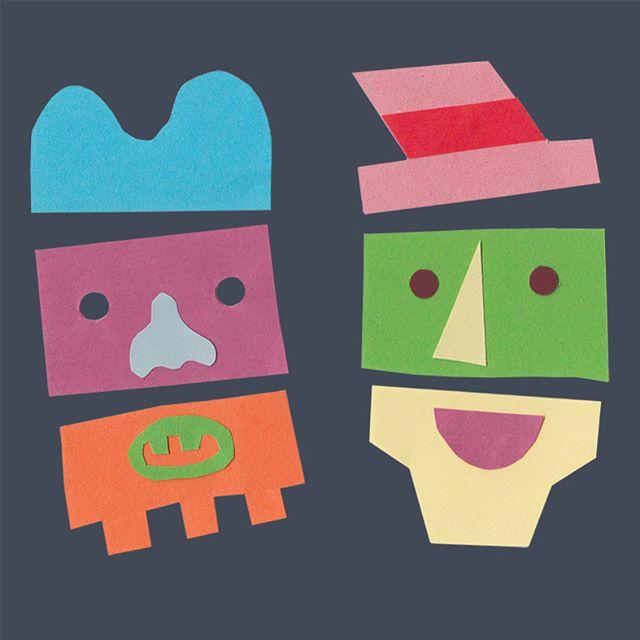 Facetime #facetime #chitchat #papercollage #poundshoppaper #cutouts #friendship #chutneychorus