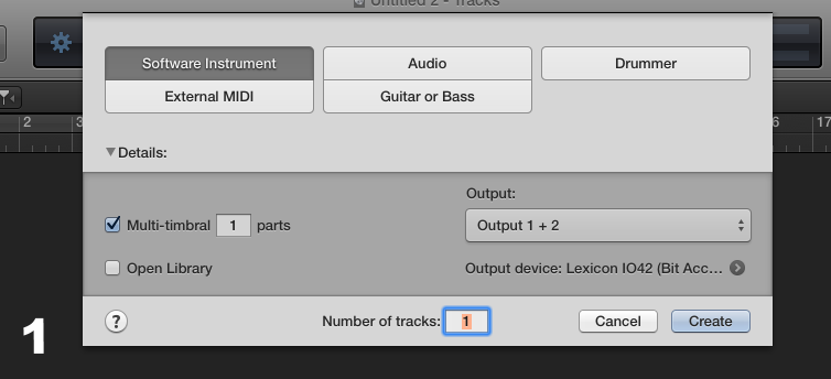 First, select a new instrument. Check the multi-timbral box as to use one instance of Kontakt to load up to  16 patches.