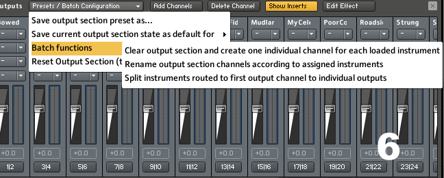 Changing Kontakt patch outputs.