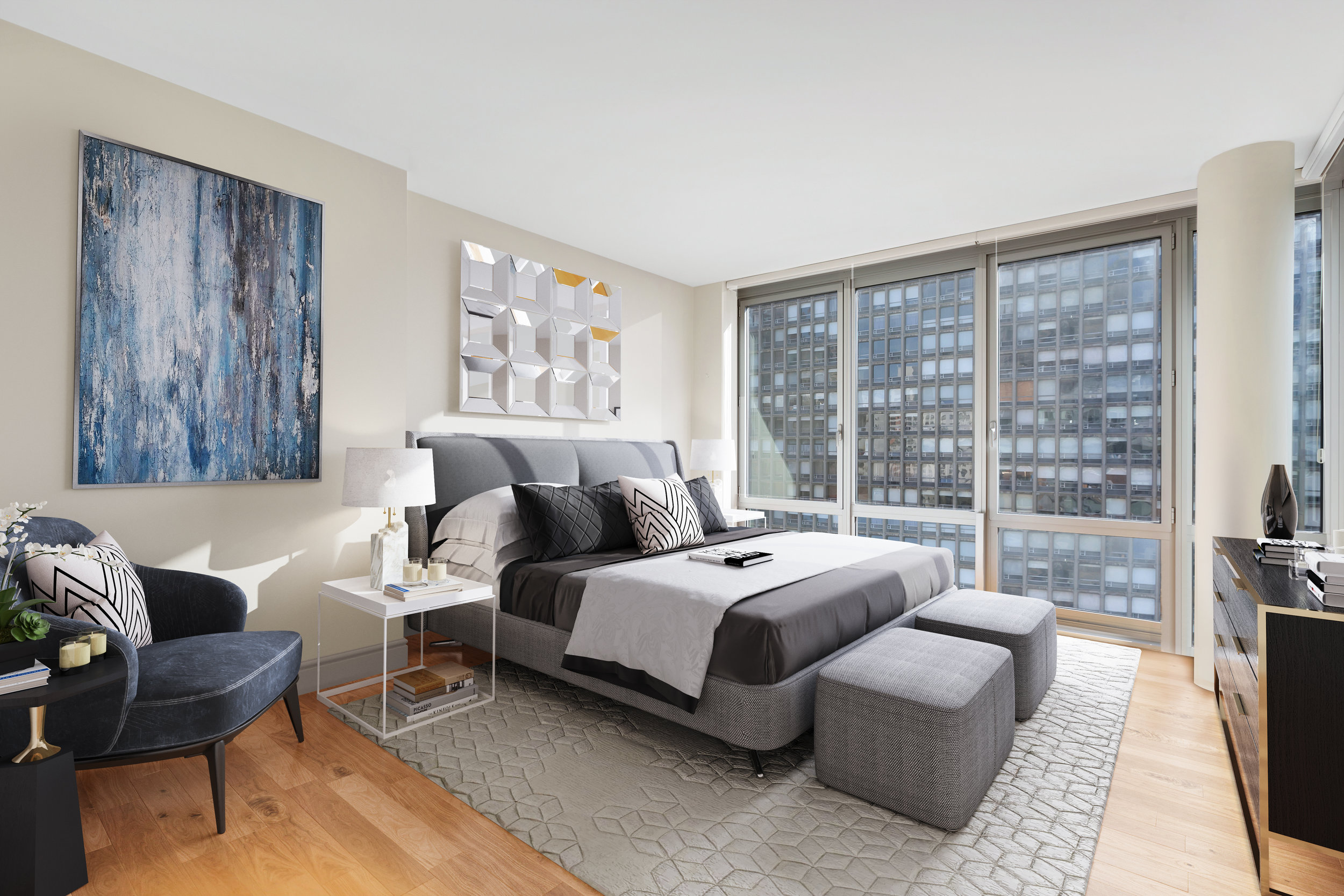 select residences feature floor-to-ceiling windows -
