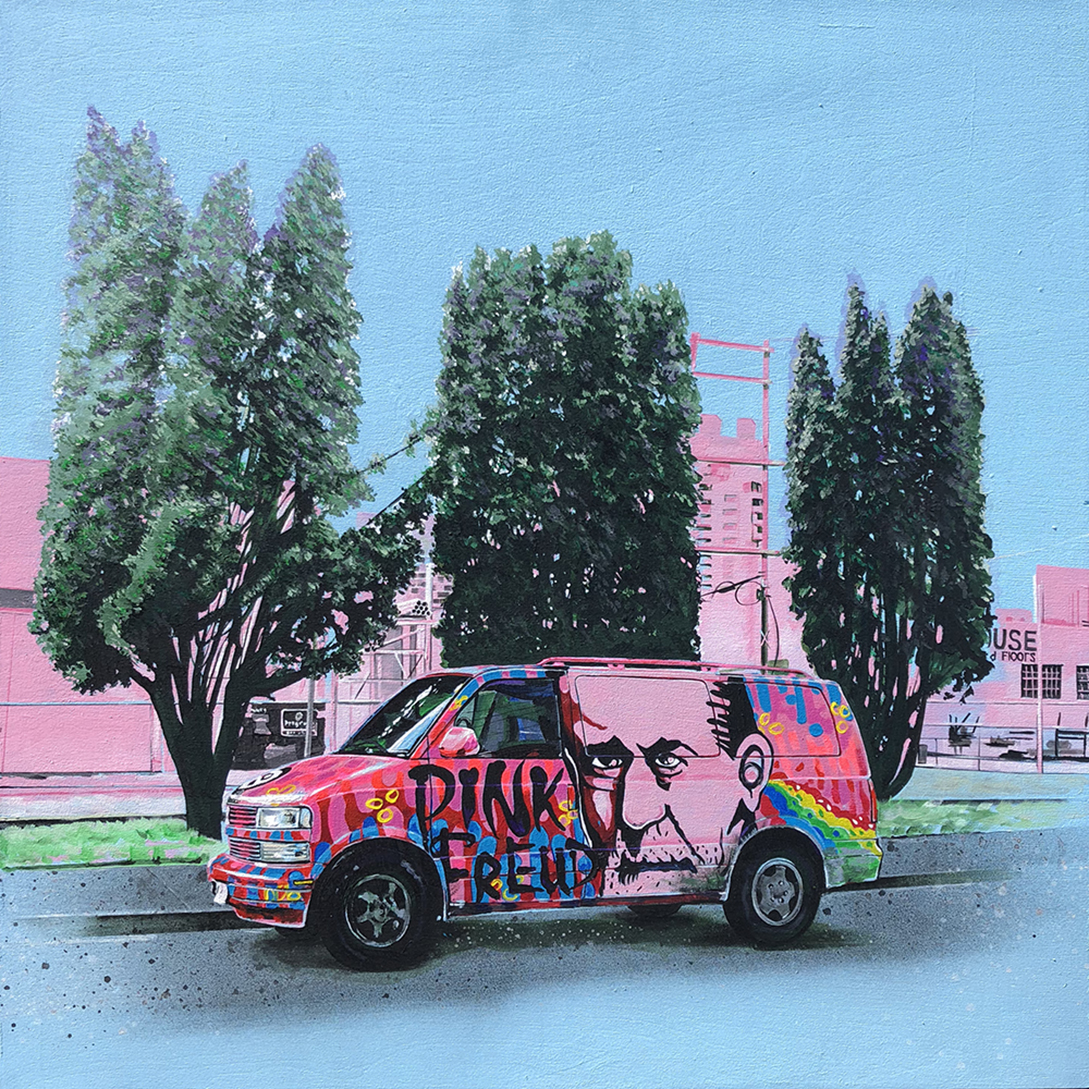 """Van Envy""  30x30 inches"