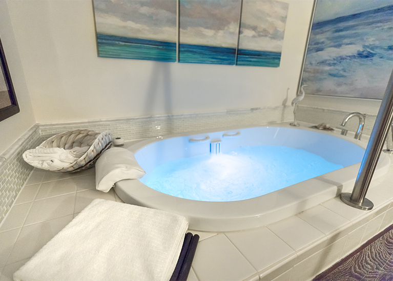 Renew your skin and body with hydrotherapy in their European bath.