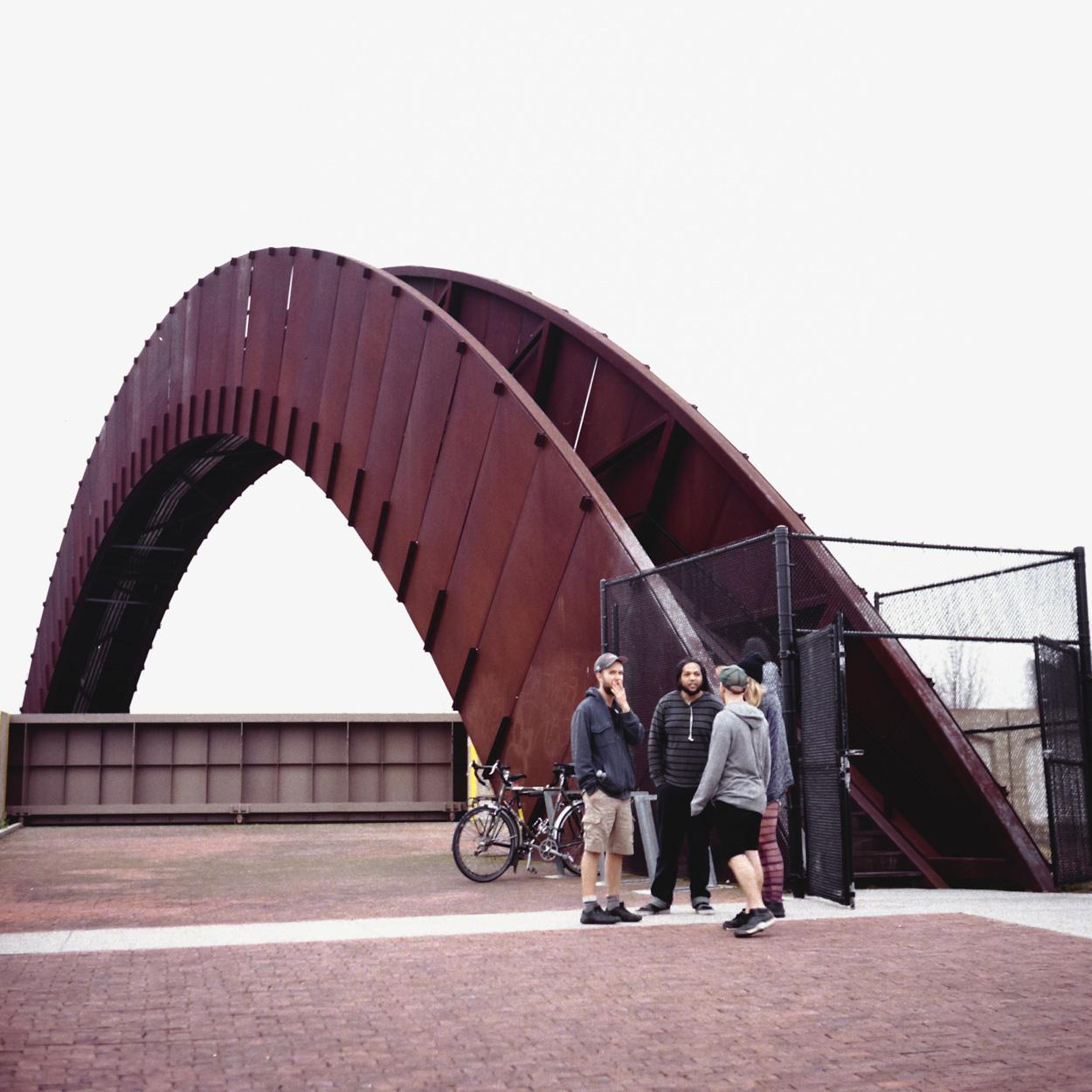 A cool looking bridge in Bridgewater