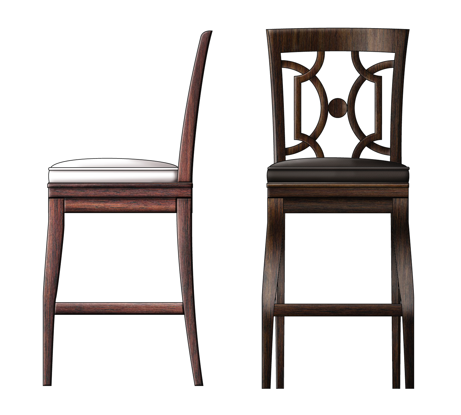 Geometric woodback Barstool Cerry Wood.jpg