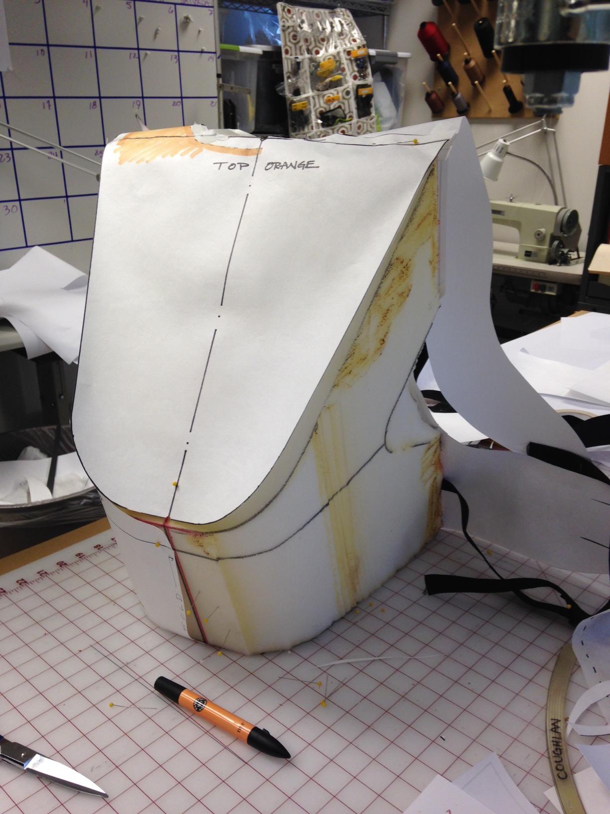 Pattern development over foam buck base