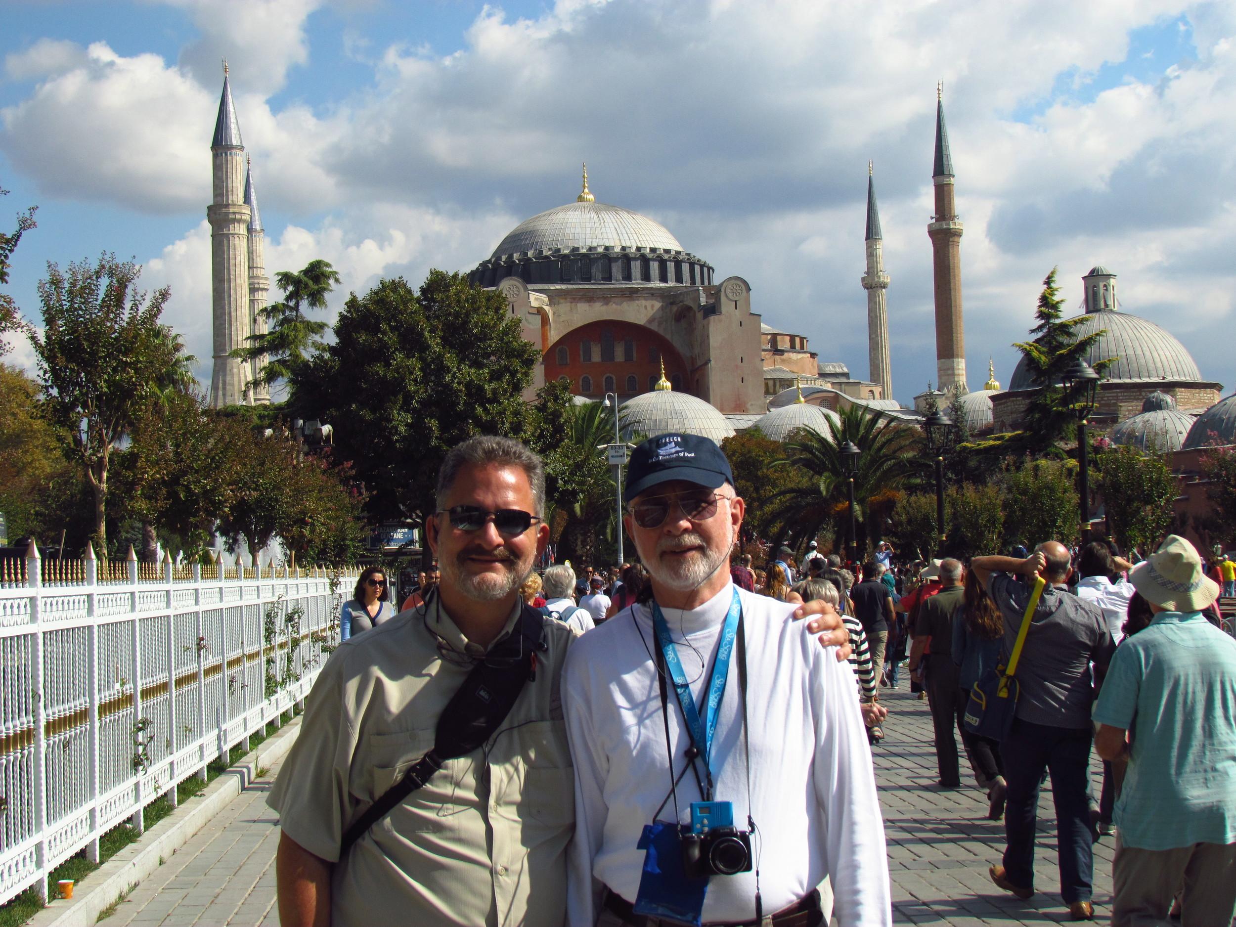 Hagia Sofia in the background